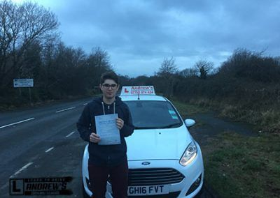 Lewis Williams from llandudno Juction passed first time at Bangor 20th December 2016.