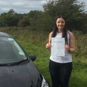 Rachel passed first time  6th October 2015 after driving lessons in Llandudno