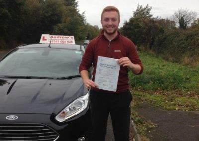 Markus Marti-Jones of Deganwy passed first time at Bangor on 8th November 2016
