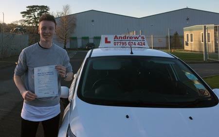 Mathew Turley from Penmaenmawr passed first time in Bangor 20th January 2017.