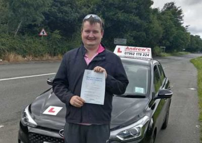 Nathan passed first time 2nd August 2017.