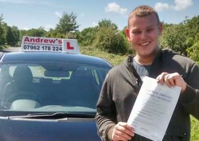 Shane Passed In Bangor after lessons with Naz on June 5th 2015