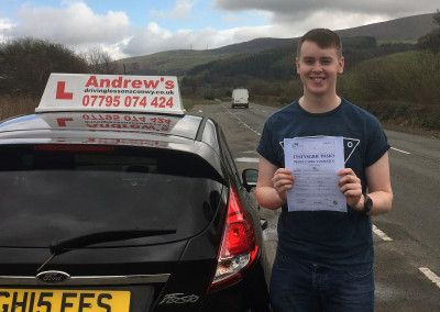 Ifan Edwards from Deganwy North Wales, Passed first time at Bangor today 5th April 2016.