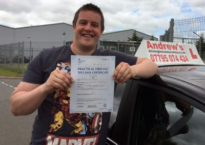 Bryan Mantle from Llandudno Junction, passed first time on 16th June 2016
