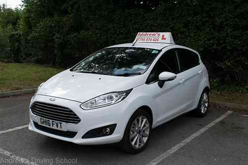Ford Fiesta ecoboost bay Parking in a car park