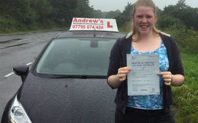 Jasmine driving lessons in Llandudno