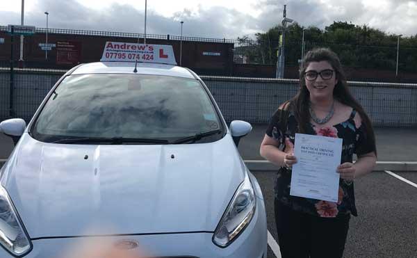 Sarah driving test Colwyn Bay