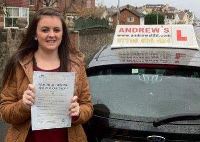 Sam Watson of Llanrhos passed today at Bangor Driving Test Centre 22nd November 2012