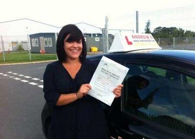 Emma Foskett Llandudno Junction Passed Driving test at Bangor today 5th September 2012