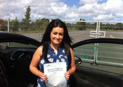 Steph Elmer Llandudno Junction passed driving test on first attempt at bangor today 16th August 2012