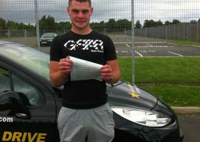 Taylor Bowe Llandudno Junction a great driving test pass at Bangor today 23rd July 2012