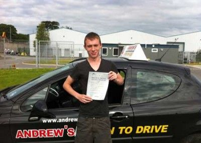 Jordan Edwards Penmaenmawr, Passed driving test at Bangor today 12th June 2012