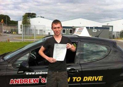 Jordan Edwards Penmaenmawr, Passed driving test at Bangor today 12th June 2012