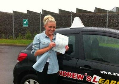 Chloe Mitchell Dwygyfylchi, Passed driving test first time at Bangor today 8th June 2012