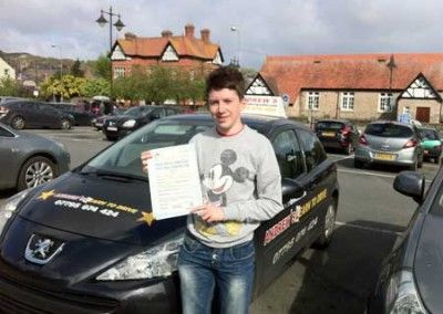 Ryan Neal of Trefriw Passed driving test at Bangor today 14th May 2012
