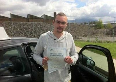 Shane Gower of Dwygyfylchi Passed driving test at Bangor today 11th May 2012