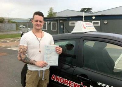 Mark Barker Llandudno Junction Passed driving test at Bangor today 4th May 2012