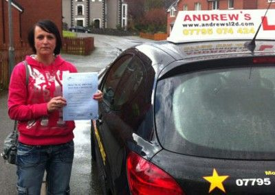 Emma Parry Penmaenmawr passed her driving test on the first attempt at Bangor Driving Test Cenctre today 17th April 2012