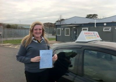 Amie walters Conwy Passed first time in Bangor 19th march 2012