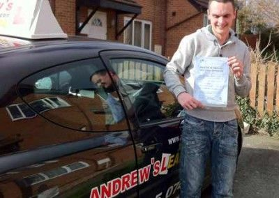 Dave Cripps LLandudno Junction Passed test today at Bangor Driving Test Centre 5/3/2012