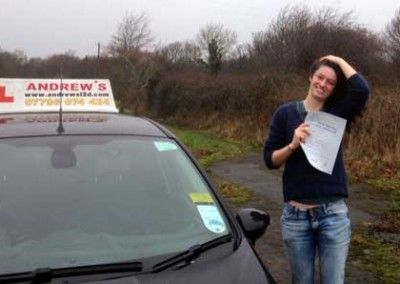 Ciara from Deganwy passed driving test on the first attempt on 23rd January 2015