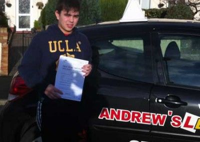 Josh Lau Llandudno Passed at Bangor Driving Test Centre 27th January 2012