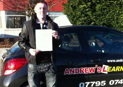 Jake Shenton Penmaenmawr Passed at Bangor 16th January 2012