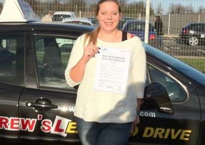 Sian Thomas Llandudno Passed first time at Bangor Friday 13th January 2012