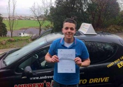 Bradley Gould from Llandudno first time pass at Bangor
