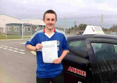 Aaron Burroughs Conwy at Bangor Driving test centre