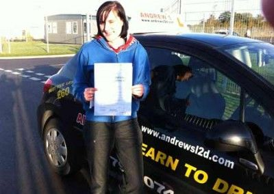 Charlotte Jones Deganwy another First time pass at Bangor Driving test centre