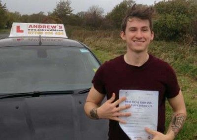Jake Foreman from Conwy Passed Driving test at Bangor North Wales today 5th November 2014