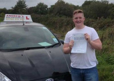 Jack Owen of Llandudno Junction North Wales passed first time today 3rd October 2014 at Bangor Driving test centre