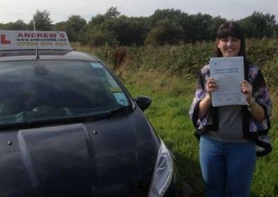 Holly Gladwysh of Llandudno Junction Passed at Bangor 8th September 2014