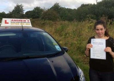 Jess Dawson of Llandudno Junction Conwy north Wales passed today at Bangor 12 August 2014