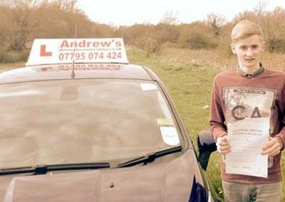 Jordan Macyntyre from Conwy Passed driving test first time at Bangor on 16th April 2015