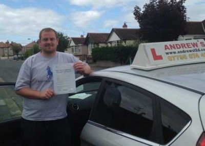 Chris Alymor from Colwyn Bay North Wales passed first time at Bangor today June 2nd 2014