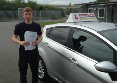 Rory Hughes from Conwy North Wales passed first time at Bangor today May 7th 2014