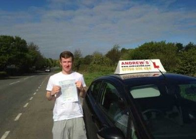 Macauley Beacall from Llandudno Juntion North Wales passed first time at Bangor today May 2nd 2014