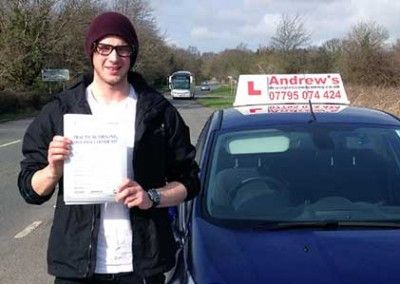 Adam Jones from Old Colwyn Passed driving test at Bangor on 27th March 2015