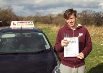 Ryan Williams from Llandudno Junction passed first time at Bangor today March 27th 2014