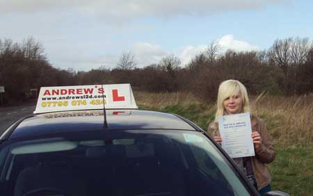 Tamara Astle from Old Colwyn passed first time at Bangor today March 25th 2014