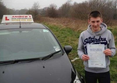 Lewis Taylor Deganwy passed first time at Bangor today March 13th 2014
