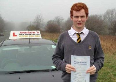 Luke Hughes Deganwy passed at Bangor today March 13th 2014