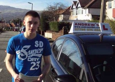 Tom Taylor of Deganwy passed first time at Bangor today March 3rd 2014