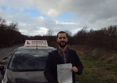 Ed Roberts of Deganwy passed at Bangor 16th January 2014