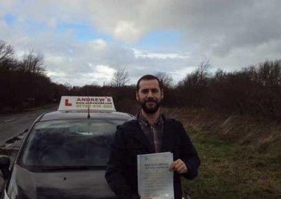 Ed Roberts of Deganwy passed at Bangor 16th January 2014