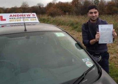 Davit shahanyn of Llandudno passed driving test at Bangor on 29th November 2013
