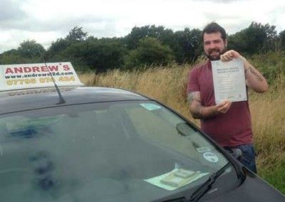 Kyle Roberts of Glan Conwy Passed first time today 12th August 2013 at Bangor test centre