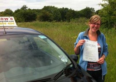 Tina Traynor from Dwgyfylchi passed first Time today 17th June 2013